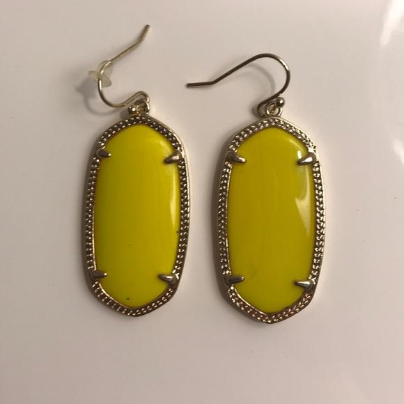 ece884bd5d954 Kendra Scott Yellow Elle Earrings